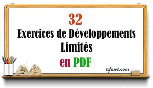32 exercices de développements limités