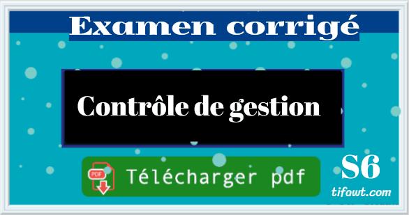 examen de controle de gestion s6 pdf