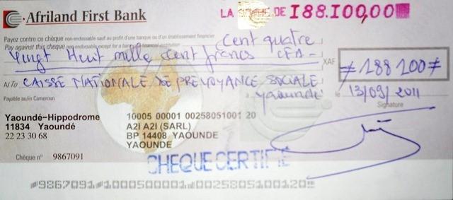 Chèque certifié