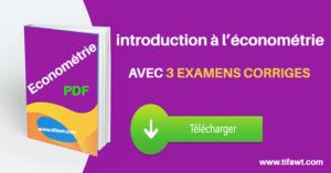 économétrie cours et exercices
