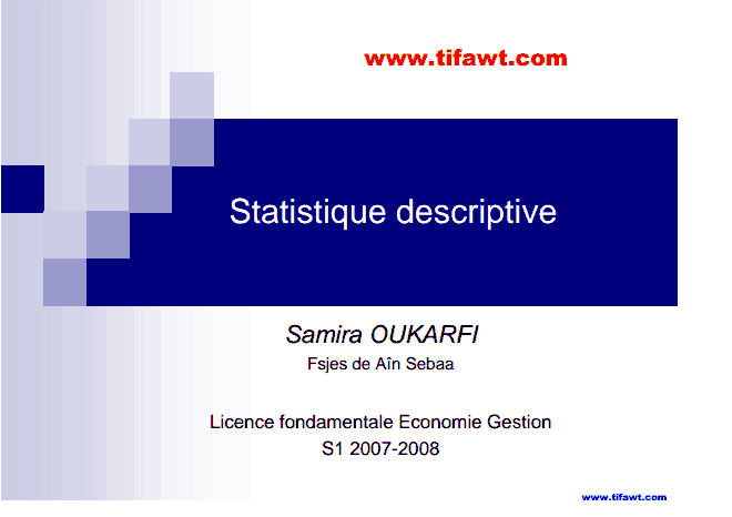 Statestiques descriptives