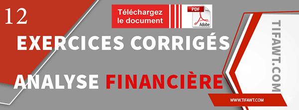 exercices analyse financière en pdf