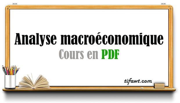 cours d'analyse macroéconomique