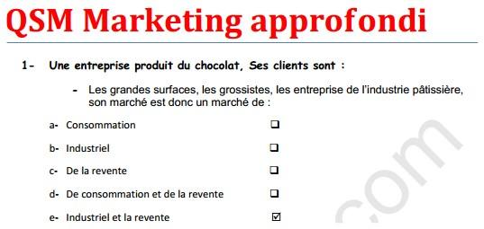 qcm marketing approfondi