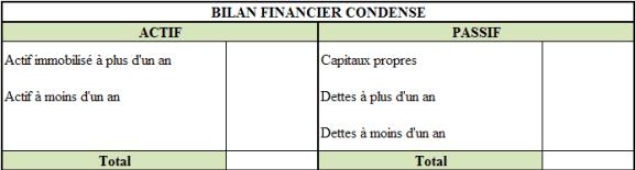 Bilan financier condensé