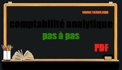 comptabilité analytique pas à pas