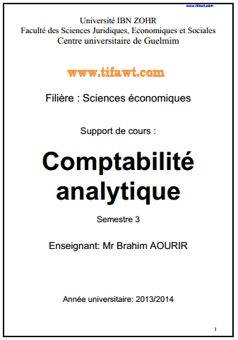 cours comptabilite analytique pdf exercices corriges