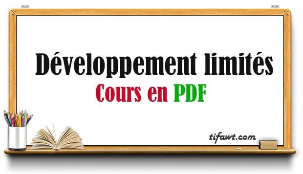 Développement limités : Cours en PDF