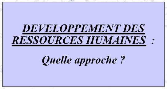 cours de développement des ressources humaines