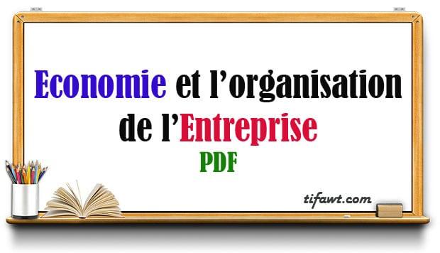 Economie et l'Organisation de l'Entreprise