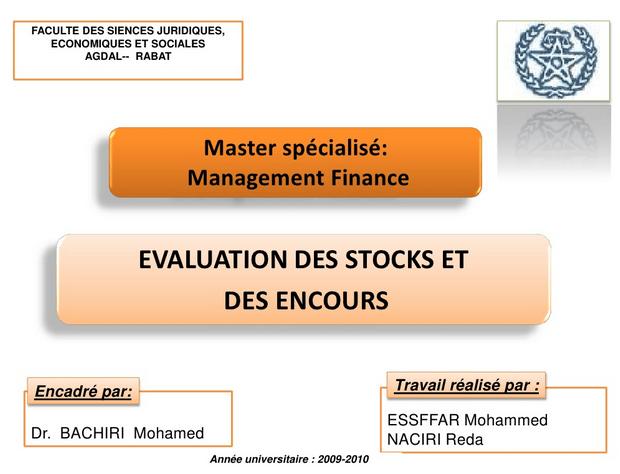 évaluation des stocks