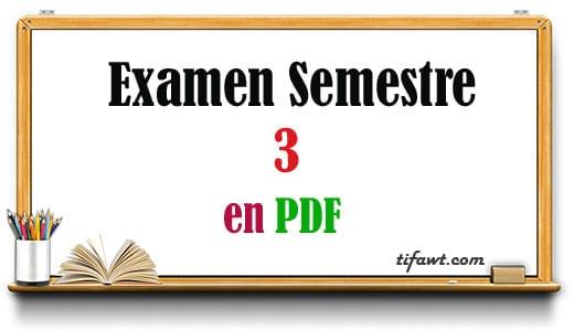 Examens semestre 3 pour économie et gestion