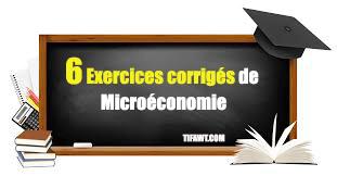 6 exercices de microéconomie