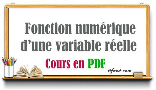 Fonction numérique d'une variable réelle