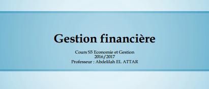 Gestion financière cours pdf