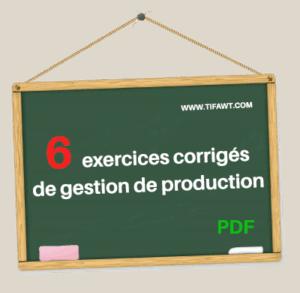 6 exercices corrigés de gestion de production
