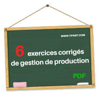 6 exercices corrigés de gestion de production