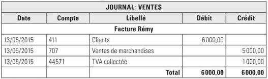 journal comptable vente