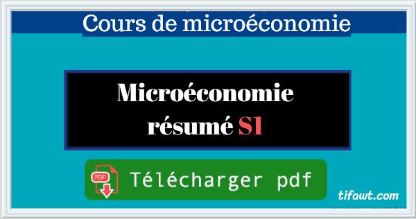 microeconomie resume S1 pdf
