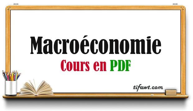 Cours de Macroéconomie