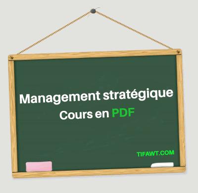 cours de management stratégique en pdf
