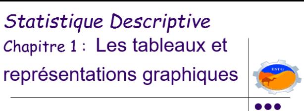 Les tableaux et représentations graphiques