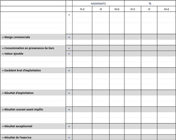 tableau des soldes intermédiaire de gestion
